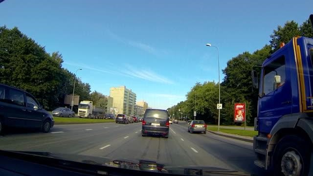 Front dash cam view